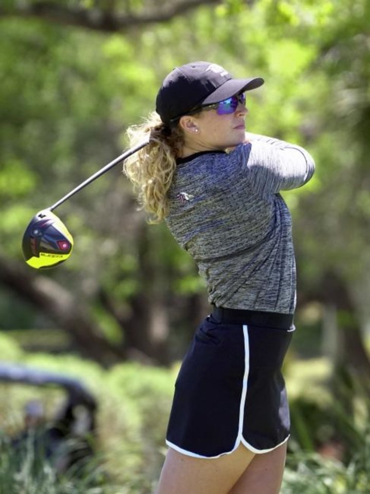 Photo -  Oklahoma Christian University golfer Abi Rigsby had no intention of making history this summer, but when she had a tournament entry denied at the last minute, she began looking for other options. As a result, she will become the first woman to try to qualify for the Oklahoma Open. [OC ATHLETICS]