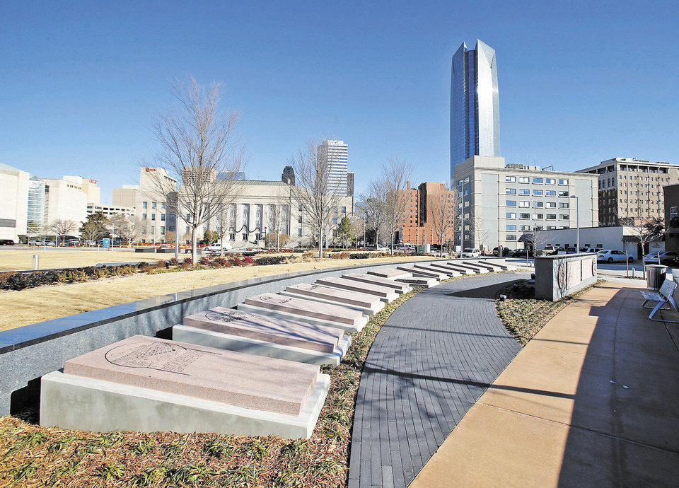 Photo - Project 180 has transformed downtown streets and Bicentennial Park on Thursday in Oklahoma City. Photos by Steve Sisney, The Oklahoman