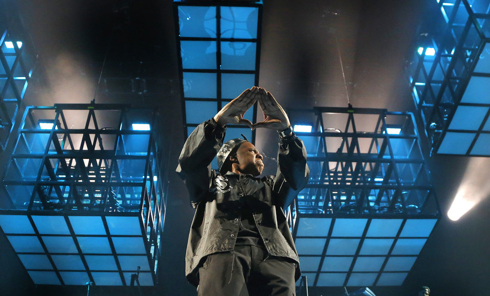 Photo - Jay-Z performs during his Magna Carter tour at the Chesapeake Energy Arena in Oklahoma City, Okla., Wednesday, Dec. 18, 2013.  .Photo by Chris Landsberger, The Oklahoman
