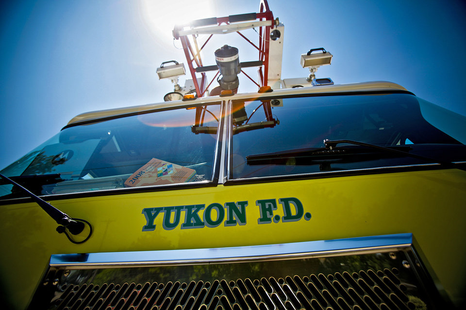 A Yukon Fire Department engine. The fire department is planning for a new main station to be built at 960 E Main. PHOTO BY CHRIS LANDSBERGER, OKLAHOMAN ARCHIVE