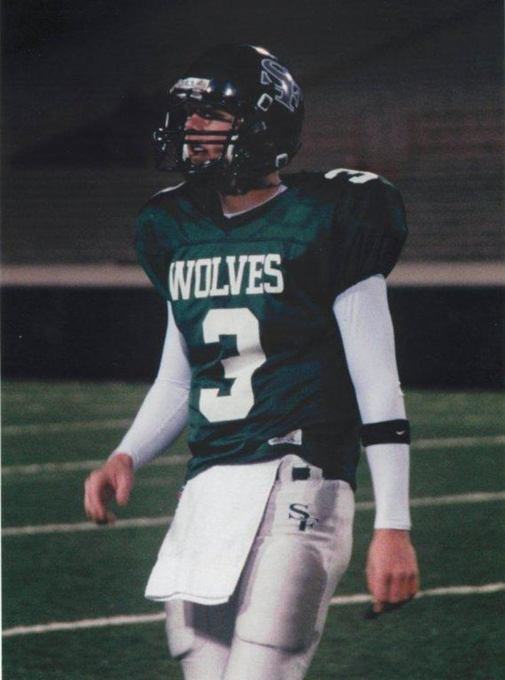 Brandon Weeden during his time at Edmond Santa Fe High School. PHOTO PROVIDED