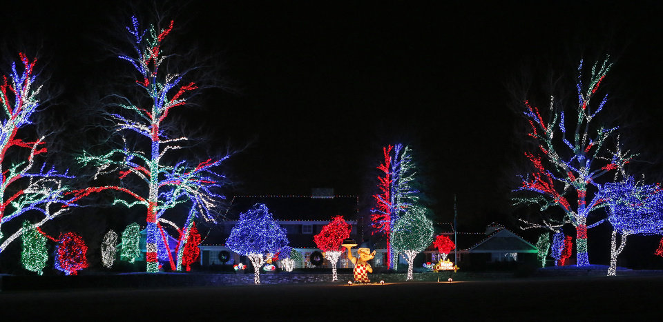 Photo - A house decorated with Christmas lights on Dorchester Dr. in Nichols Hills, Okla., Saturday, Dec. 8, 2012. Photo by Bryan Terry, The Oklahoman