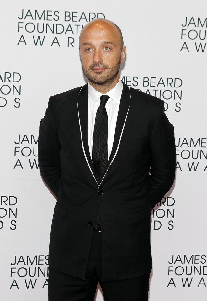 Photo -   Chef Joe Bastianich arrives for the James Beard Foundation Awards, Monday, May 7, 2012, in New York. (AP Photo/Jason DeCrow)