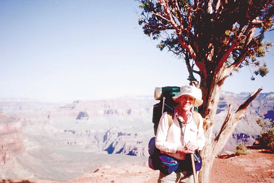 Photo -  NCAA Tournament director Bill Hancock stands near a tree during a visit to the Grand Canyon.   PROVIDED