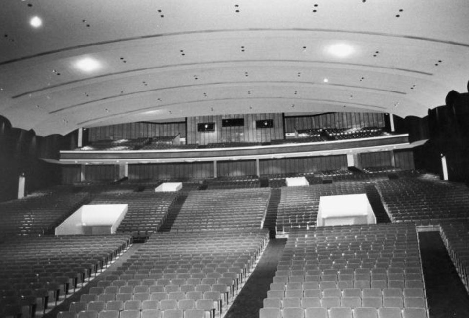 Photo -  The Civic Center Music Hall was deemed a poor host for concerts and performances as shown in this 1980 photo taken before it was gutted and transformed into a modern performing arts hall as part of the original MAPS. [The Oklahoman Archives]