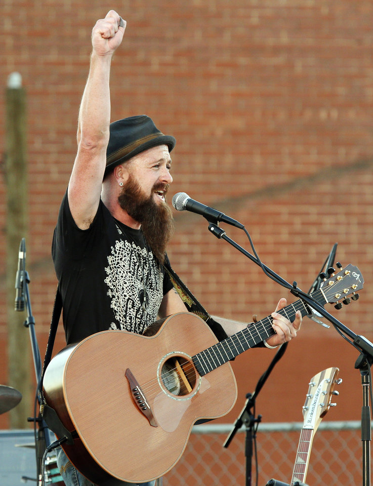 Charlie Hall performs during a street party to preview the FeedOKCNow initiative by the CIty Rescue Mission in downtown Oklahoma City, Monday, Sept. 10, 2012. Photo by Nate Billings, The Oklahoman