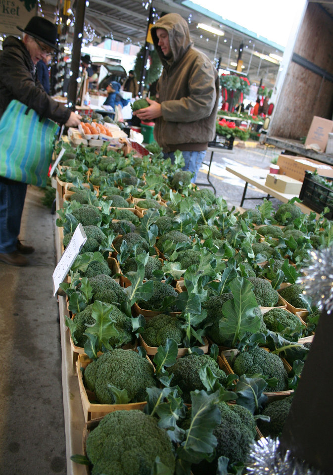 Photo - Broccoli was in ready supply at the Ann Arbor Farmers Market.  DAVE CATHEY - THE OKLAHOMAN