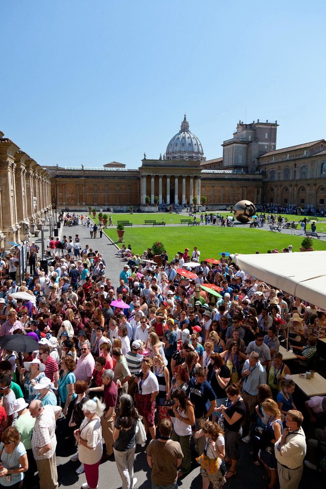 Photo - Getting into the Vatican Museum in Rome can be a mob scene, but travelers can reserve tickets ahead of time. Photo by Dominic Bonuccelli