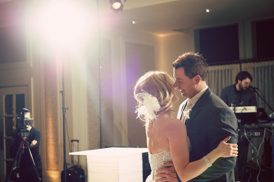 Photo - Malorie and Michael Gulikers enjoy their first dance. Photo by Traina Photography.