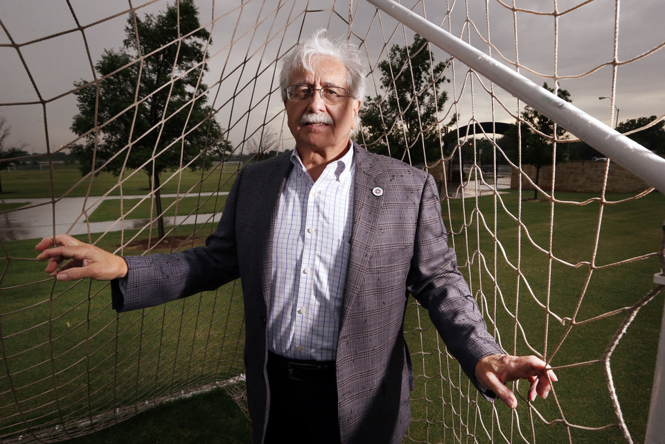 Photo - Parks Director Doug Kupper visited Woodson Park soccer complex in 2018. An initiative sponsored by former Ward 2 City Councilman Ed Shadid would create a dedicated sales tax for Oklahoma City parks. [Photo by Steve Sisney/The Oklahoman]