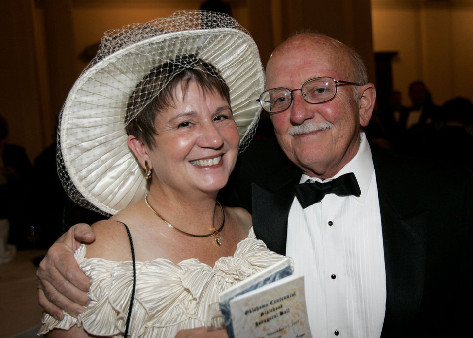 Photo - Linda and Dale Northup of Guthrie, at the Oklahoma Centennial Statehood Inaugural Ball, Saturday, Nov. 17, 2007, at the Guthrie Scottish Rite Masonic Center, in Guthrie, Okla. By Bill Waugh, The Oklahoman