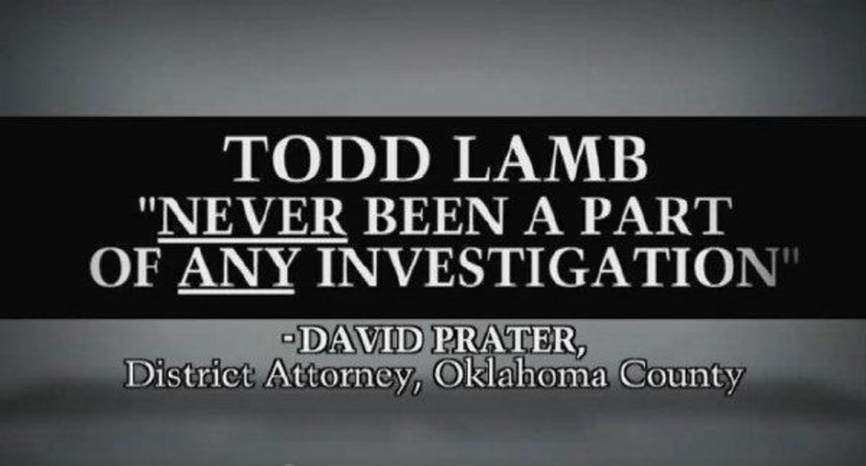 Photo - This screen shot shows an ad by Republican lieutenant governor candidate Todd Lamb.