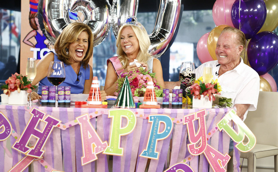 Photo - Kathie Lee Gifford,  Hoda Kotb and Frank Gifford celebrate Kathie Lee Gifford's 60th birthday on Friday's episode of