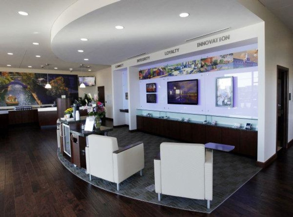An interior view of a new BancFirst branch at 701 SW 19th in Moore, Okla., Monday, Oct. 31, 2011. Photo by Nate Billings, The Oklahoman ORG XMIT: KOD