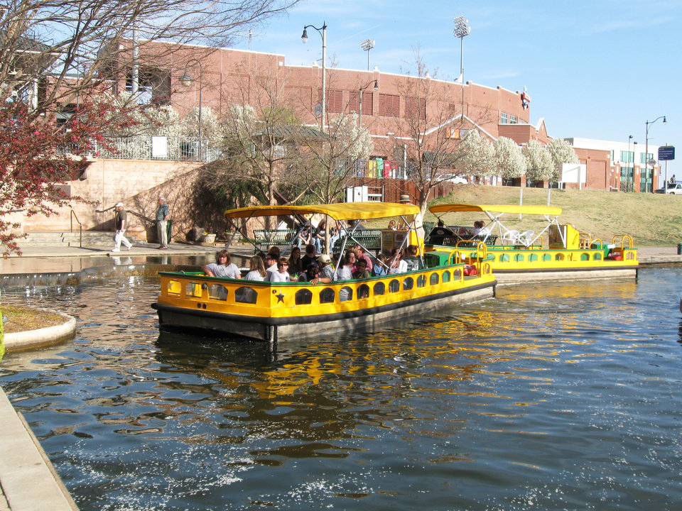 Photo - Bricktown water taxis were kept full with passengers this week as area attractions reported higher-than-normal business, likely because of the down economy.PHOTO PROVIDED BY BRICKTOWN WATER TAXI