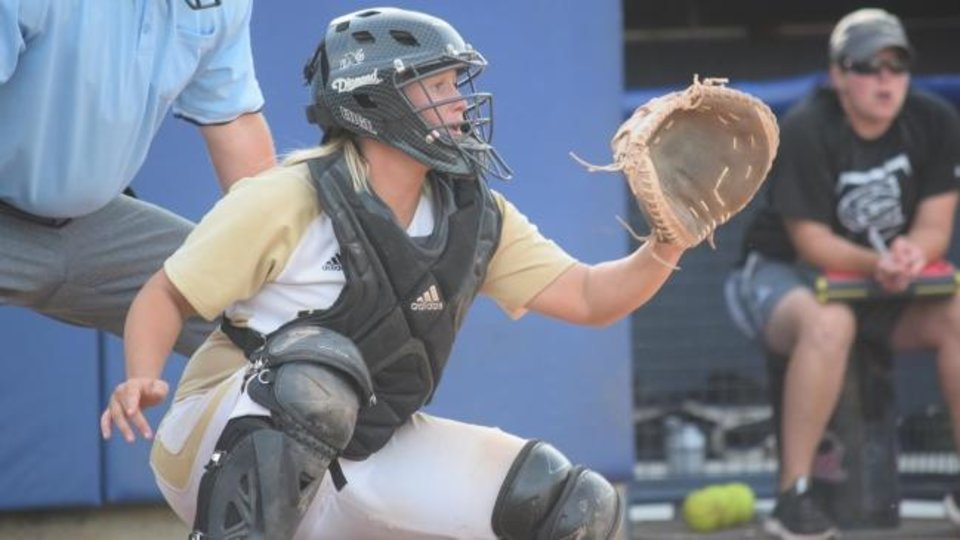 Photo -  Jacie Stephens Cochran was a four-year catcher for Emporia State in Kansas, earning a selection the All-MIAA team twice. A Washington native, she was also an All-State selection. [Photo provided by Emporia State University]