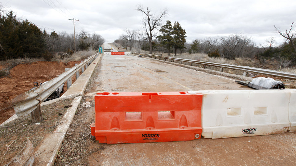 Sooner Road between Covell and Coffee Creek roads will be closed until the end of April while contractors do repair work on the Sooner Road bridge.