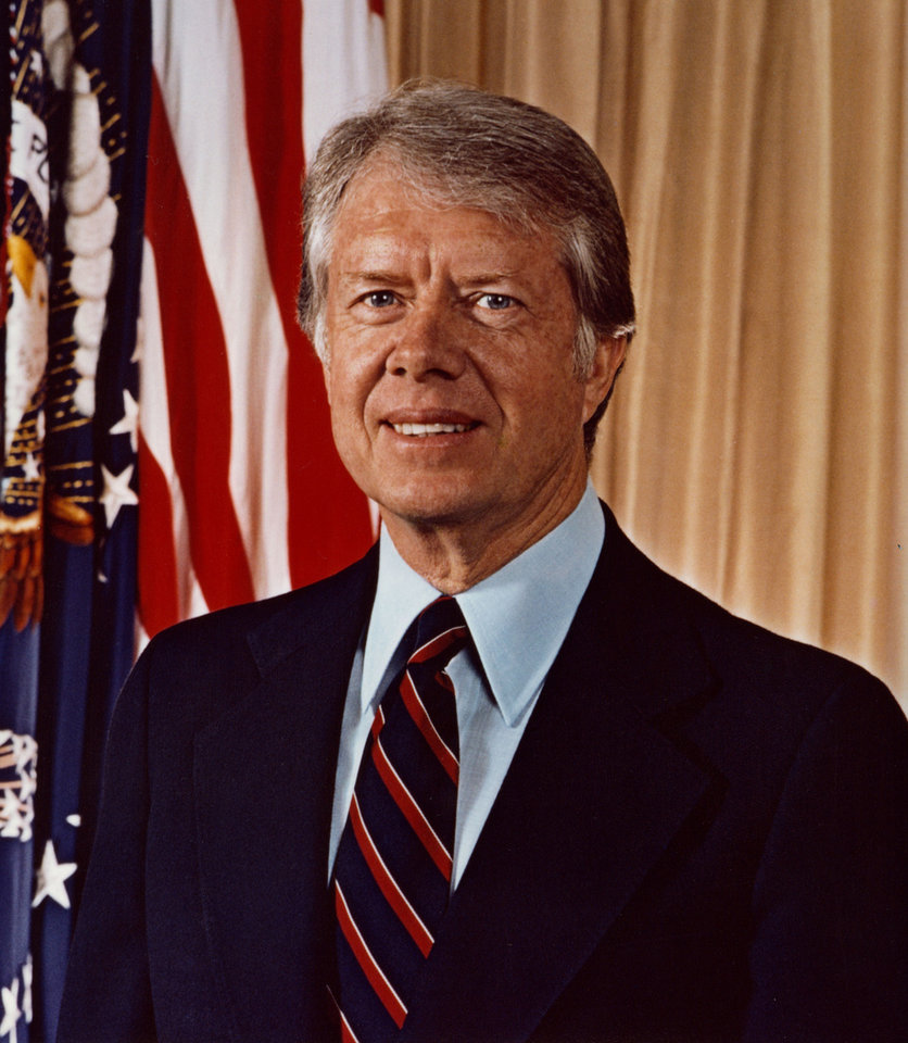Photo - President Jimmy Carter is shown in this photo from his time in office. PHOTO PROVIDED BY THE JIMMY CARTER LIBRARY & MUSEUM