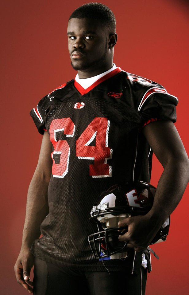 Pearlie Graves for all-state football on Thursday, December 13, 2007, in Oklahoma City. By Bryan Terry, The Oklahoman