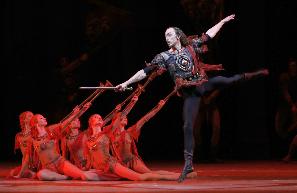 Photo - FILE In this Sunday, Nov. 4, 2012 file photo, Bolshoi dancer Pavel Dmitrichenko performs Ivan the Terrible, during a dress rehearsal of Ivan the Terrible in the Bolshoi Theater in Moscow, Russia. Pavel Dmitrichenko, a Russian ballet star who most recently played the title role in