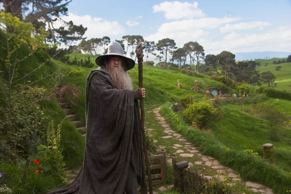 "Ian McKellen reprises his role as 	 Gandalf in the fantasy adventure ""The Hobbit: An Unexpected Journey."" Warner Bros. photo. <strong></strong>"