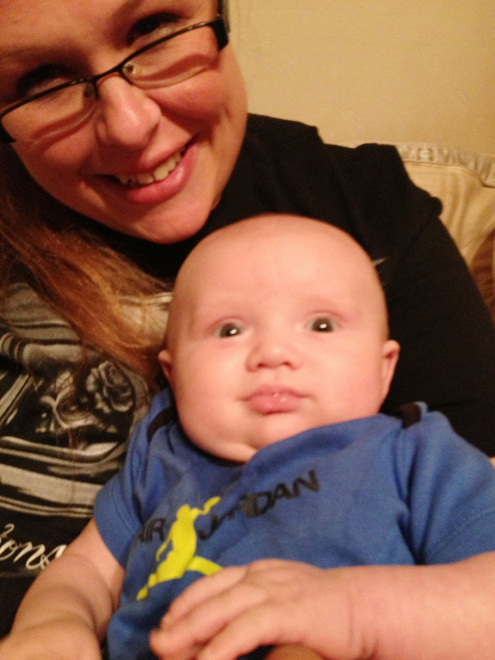 Photo - Amario Dominguez III, the baby that was killed with his mother, Rebecca Cizek, who was also killed.