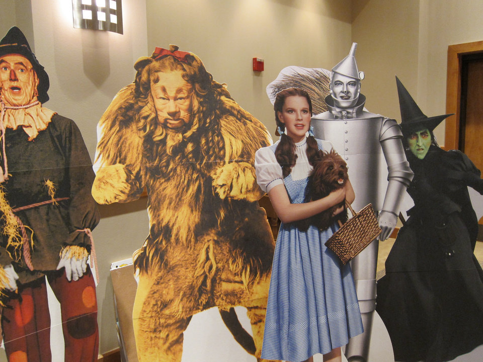 """Photo -  Pop-up images of the characters in """"The Wizard of Oz"""" movie are displayed in the hallway at St. Andrew Catholic Church in Moore. Photo by Carla Hinton, The Oklahoman"""