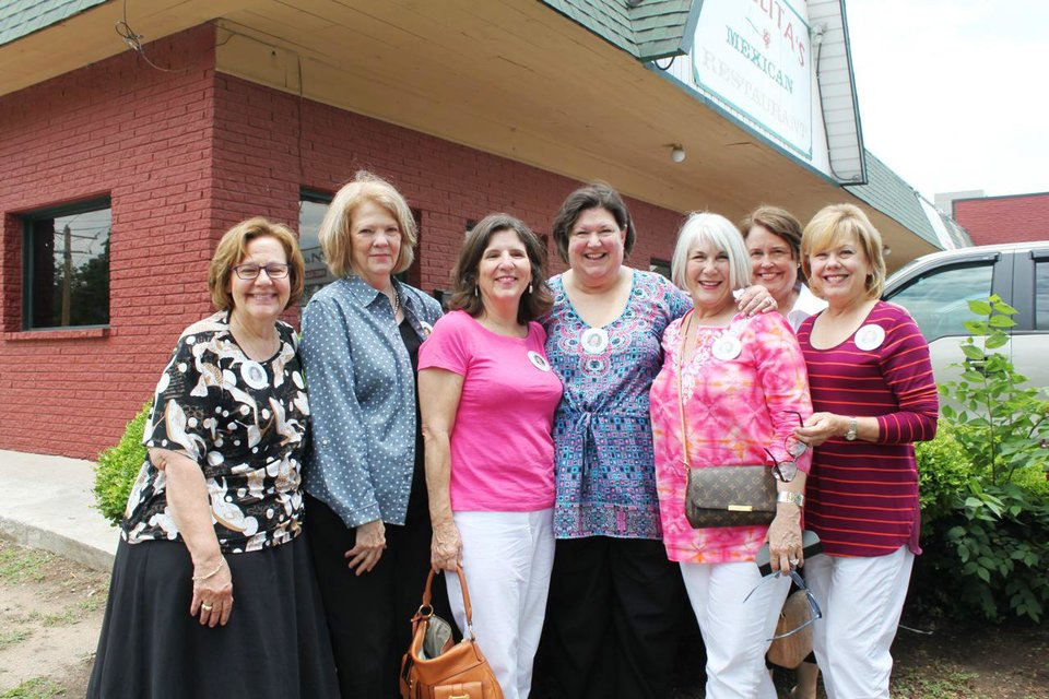 Photo -  Gayle Semtner, Toni Cook, Mary Price, Sody Clements, Jeary Seikel, Marty Margo, and Jane Elliott. PHOTOs PROVIDED