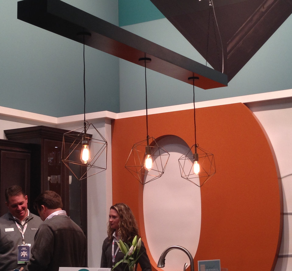 Photo - Unusual light fixtures are stark in their simplicity at a display at the International Builders Show.   Photo PROVIDED BY LINZY NEALIS/CHURCHILL-BROWN   - PROVIDED BY LINZY NEALIS/CHURCHILL-BROWN
