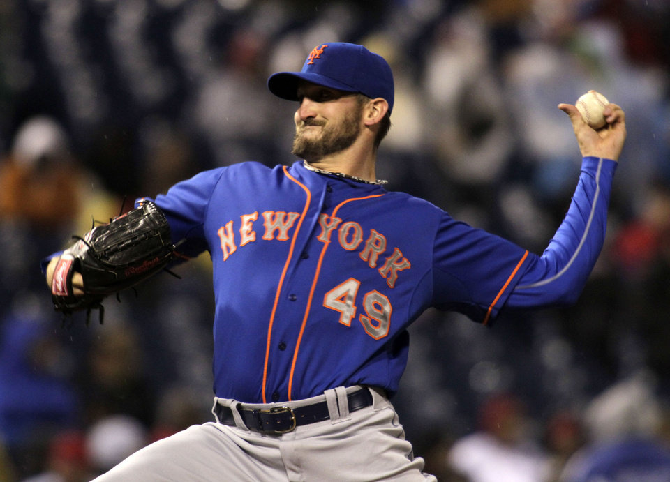 Photo - New York Mets starting pitcher Jonathon Niese throws against the Philadelphia Phillies in the first inning of a baseball game Tuesday, April 29, 2014, in Philadelphia. (AP Photo/H. Rumph Jr)