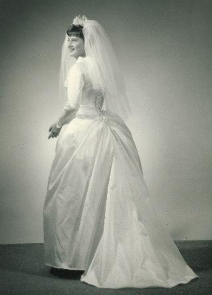 Photo - Some girls do wear the dress they have envisioned since they were young. A sketch she found as a teenager, stuck with Barbara Jean Clark Main as she fell in love with the gown. Photo provided by Barbara Main.