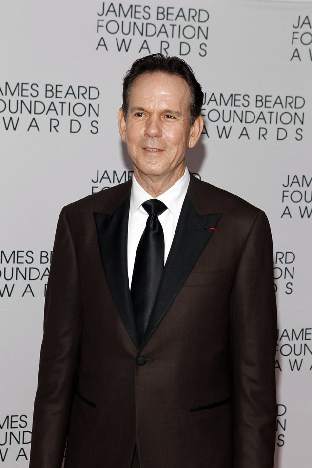 Photo -   Chef Thomas Keller arrives for the James Beard Foundation Awards, Monday, May 7, 2012, in New York. (AP Photo/Jason DeCrow)