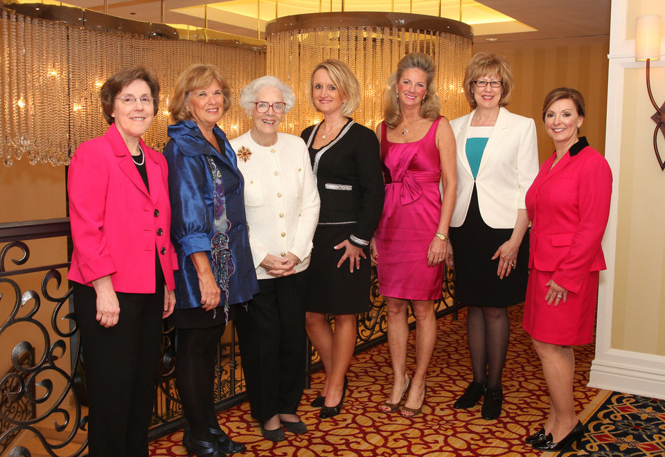 Carol Gray, Reta Strubhar, Joan Gilmore, Denise Northrup, Marnie Taylor, Noma Gurich, Brenda Jones Barwick. Photo by David Faytinger for The Oklahoman__