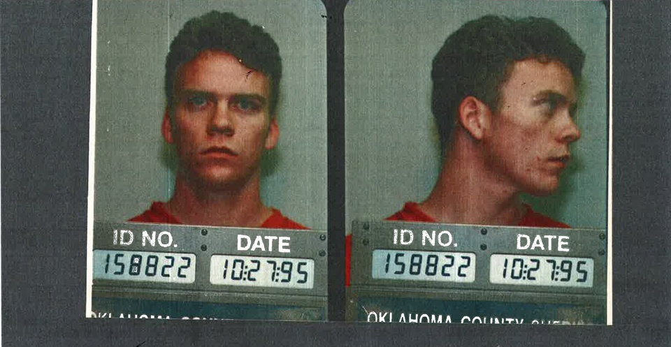 "Photo -  Jedidiah ""Jed"" Chappell's mug shot from 1995. Photo provided by Oklahoma County sheriff's office"