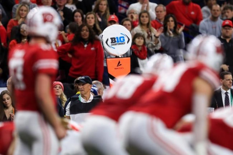 Photo -  The Big Ten Conference announced Thursday that it will only play conference opponents for all of its fall sports, including football. Big Ten commissioner Kevin Warren told Yahoo Sports he is