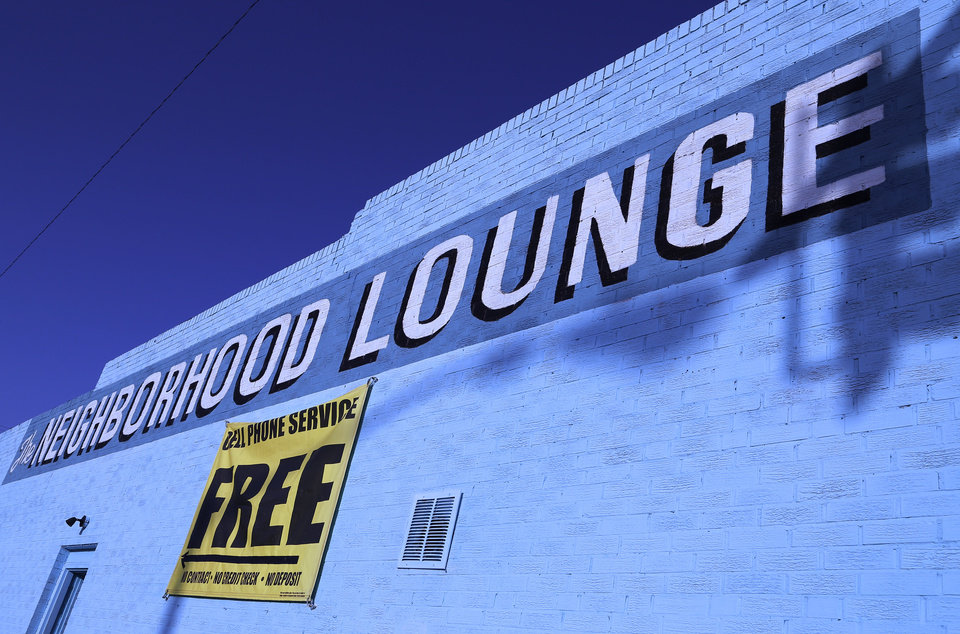 BUILDING EXTERIOR: The Neighborhood Lounge at 733 NW 4th, owned by Larry Jenkins, Monday, March 4, 2013. Photo by Doug Hoke, The Oklahoman