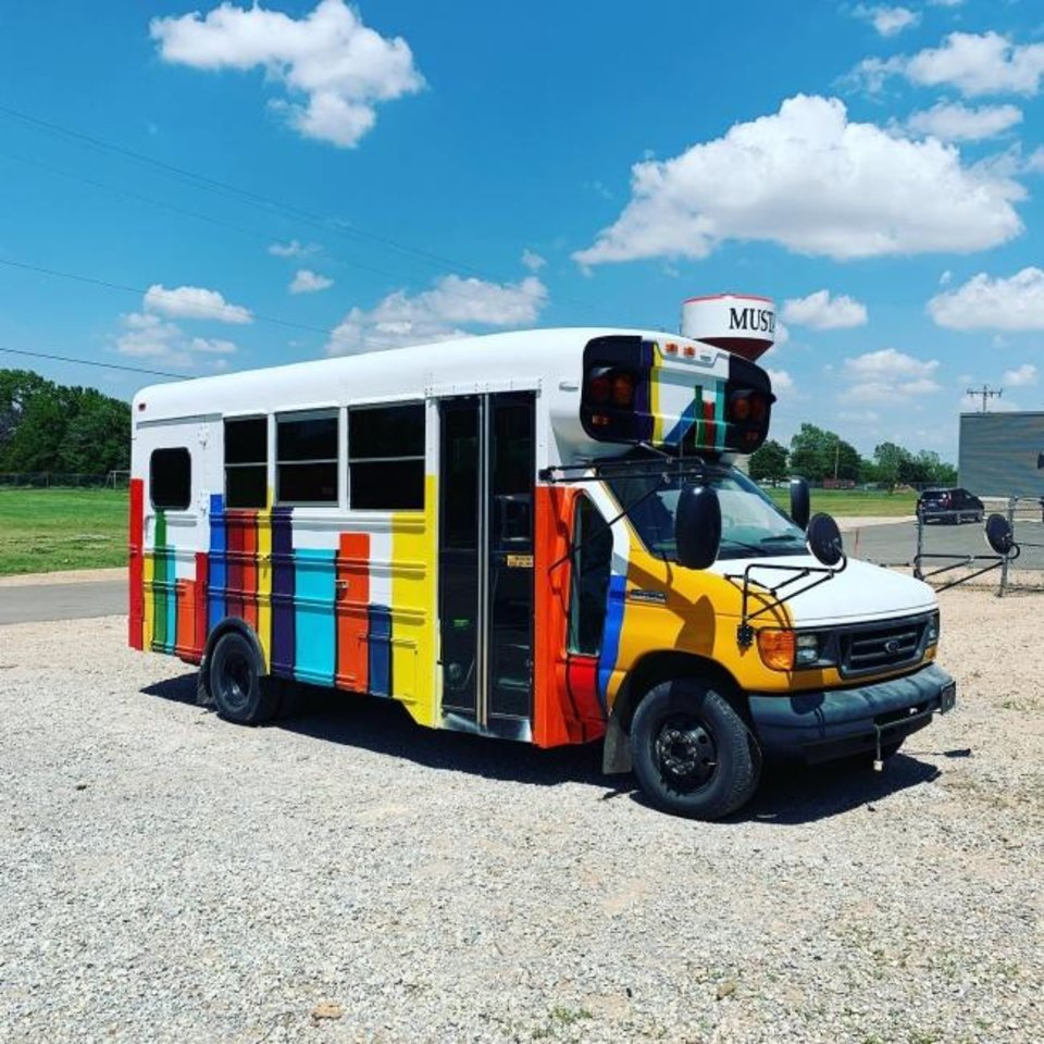 Photo -  Mustang Public Schools' Bronco Bus is a new program intended to prevent the summer slide of learning. [PHOTO PROVIDED]