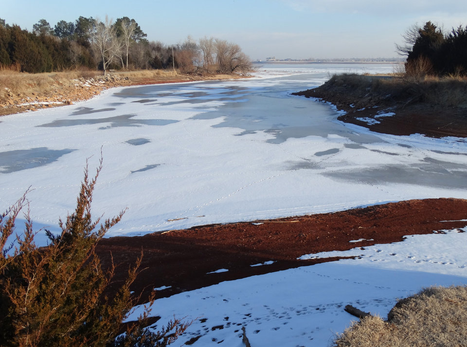 Winter Beauty at Lake Hefner - Feb. 12, 2014 - Photo by Ruthann Lach