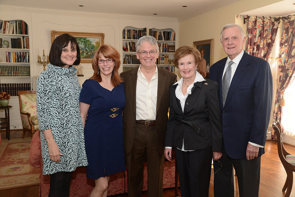 Photo -  Nancy Leonard, Camille Anderson, Grant Moak, Barbara and Ralph Thompson. Photo by David Faytinger, for The Oklahoman