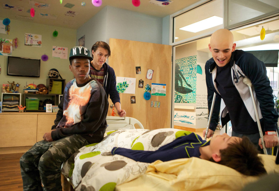 Photo - This image released by Fox shows, from left, Brian Bradley, Nolan Sotillo, Griffin Gluck and Charlie Rowe from the