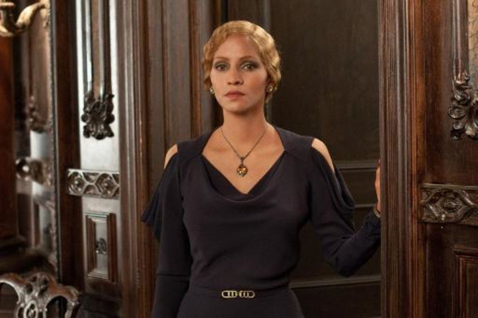 "Halle Berry plays a Jewish-German trophy wife in one of her six roles in the centuries- and continents-spanning film ""Cloud Atlas."""
