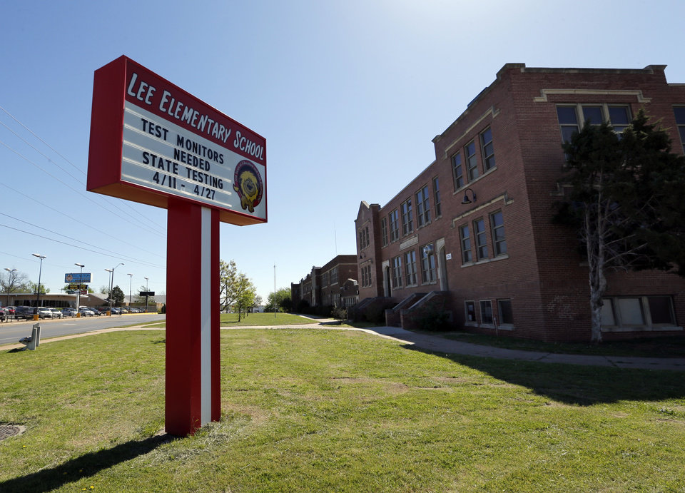 Photo -  Lee Elementary School, 424 SW 29 in Oklahoma City, is named after famous Confederate Gen. Robert E. Lee. [Photo by Steve Sisney, The Oklahoman]