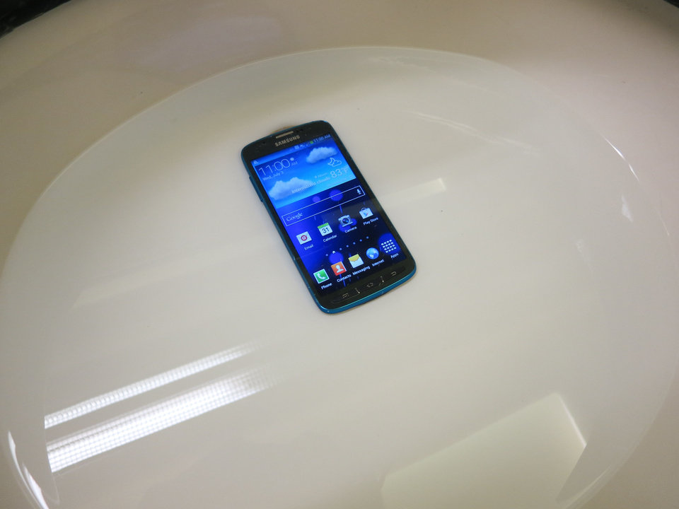 The Samsung S4 Active is waterproof, dustproof and shock resistant. <strong>Photo by Adam Wilmoth</strong>