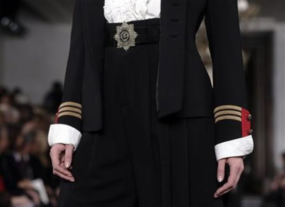 From the Ralph Lauren fall 2013 collection shown on the runway in New York. AP PHOTO