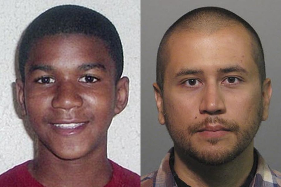 Photo - FILE -This combo image made from file photos shows Trayvon Martin, left, and George Zimmerman. On Saturday, July 13, 2013, jurors found Zimmerman not guilty of second-degree murder in the fatal shooting of 17-year-old Martin in Sanford, Fla. The six-member, all-woman jury deliberated for more than 15 hours over two days before reaching their decision Saturday night. (AP Photos, File) ORG XMIT: NY115