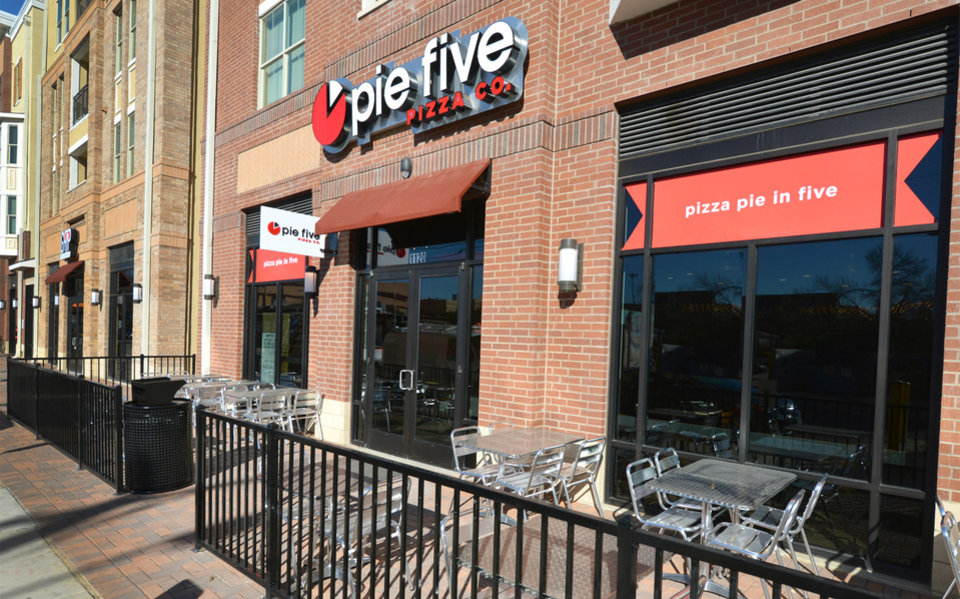 Photo -  This is the exterior of a Pie Five Pizza in Denton, Texas. Pie Five will open its first Oklahoma City restaurant later this year. Photos provided   Glen E. Ellman -