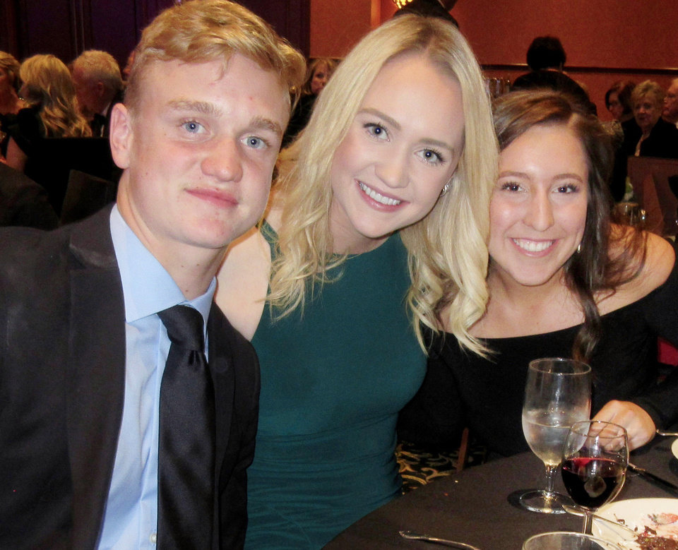 Photo - Bryce Drummond, Paige Drummond, Langley Branan. PHOTO BY HELEN FORD WALLACE, THE OKLAHOMAN
