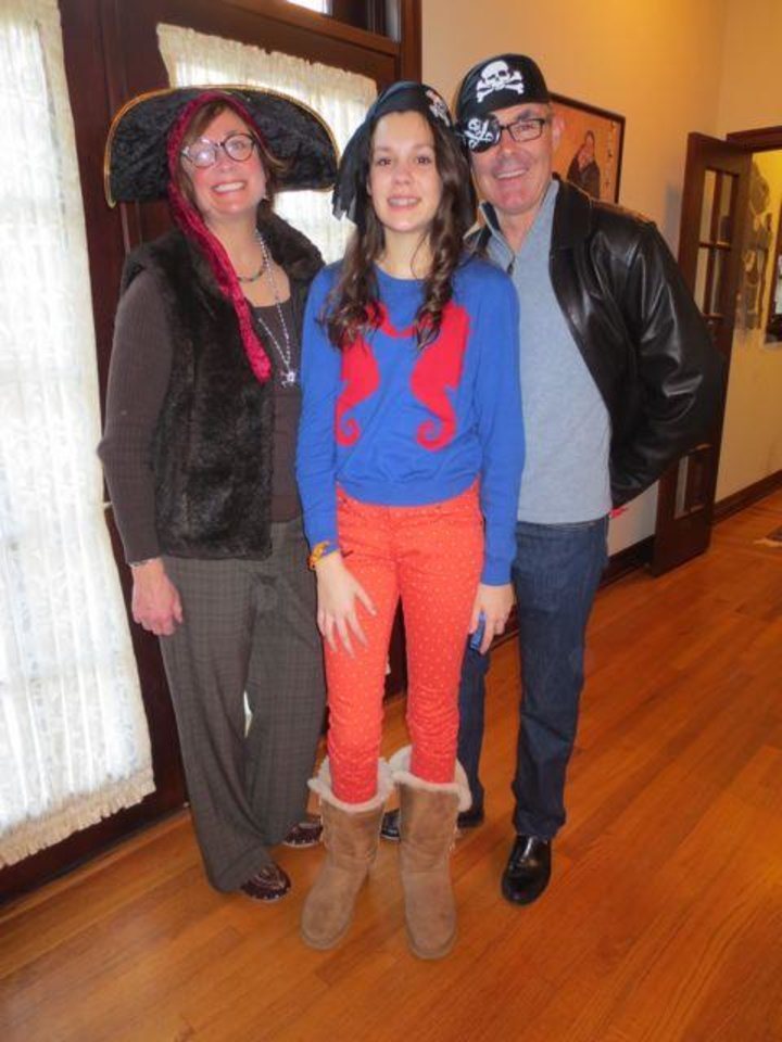 Lisa, Kate and Jeff McConnell were at the Pirate's Party. (Photo by Helen Ford Wallace).