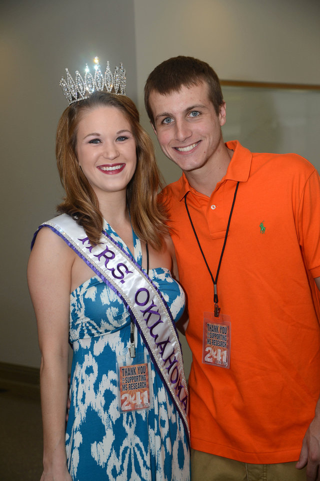 Allison and Shane Haynes (Mr. and Mrs. Oklahoma International). Photo by David Faytinger, for The Oklahoman          <strong></strong>