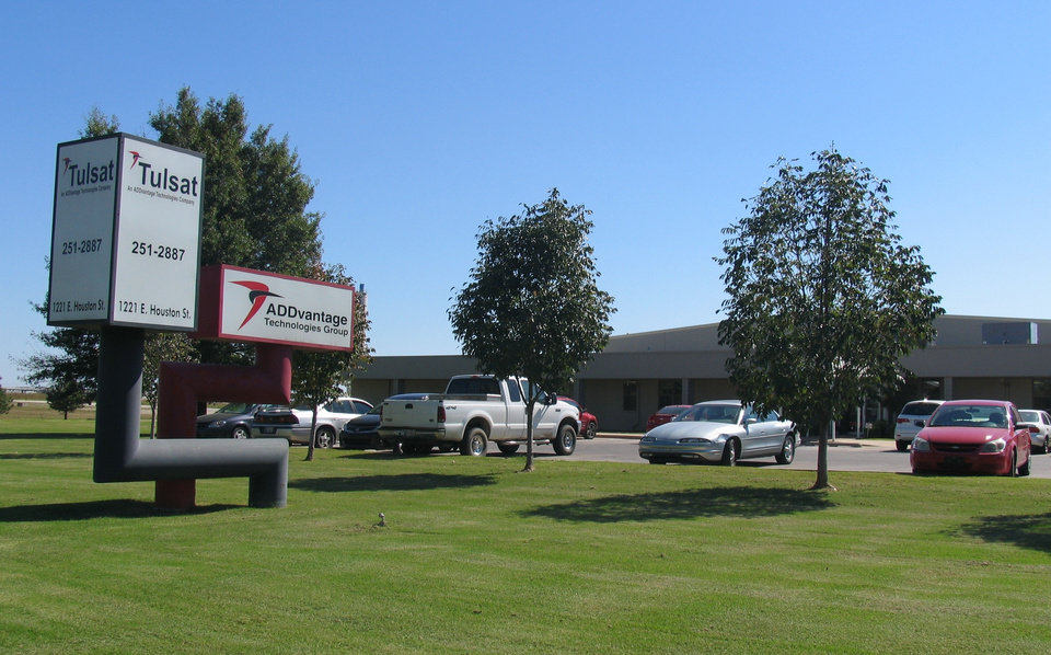 Corporate headquarters of ADDvantage Technologies Group and one of its subsidiaries, Tulsat, distributors of cable television equipment, are at 1221 E Houston in Broken Arrow.  Photo PROVIDED BY ADDVANTAGE TECHNOLOGIES GROUP